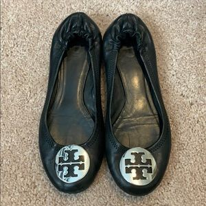 Leather Tory Burch ballet flats